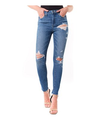 BLANK NYC the great jones ripped ankle skinny jeans