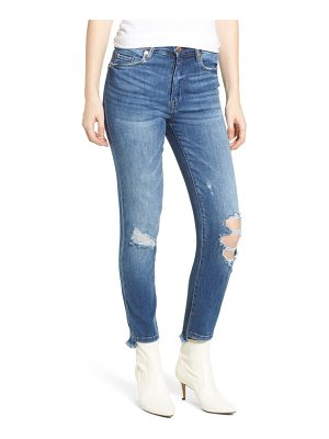 BLANK NYC the great jones ripped crop skinny jeans