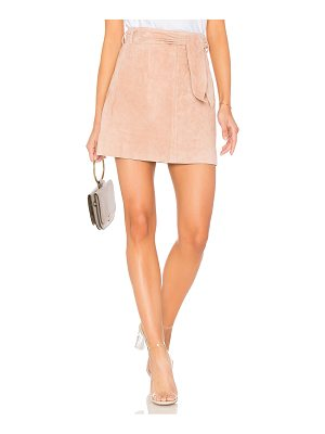 BLANK NYC Tie Front Mini Skirt