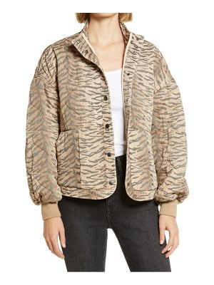 BLANK NYC tiger print quilted jacket