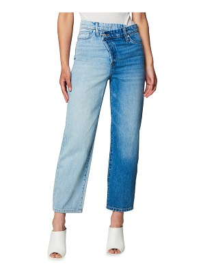 BLANK NYC Two-Tone Overlap Cropped Jeans