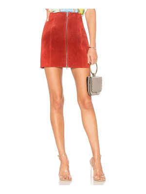 BLANK NYC Zipper Suede Mini Skirt