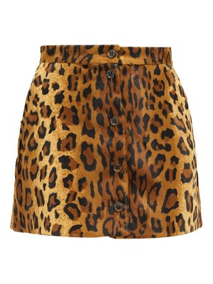 BLAZÉ MILANO be fear appaloosa leopard-print mini skirt