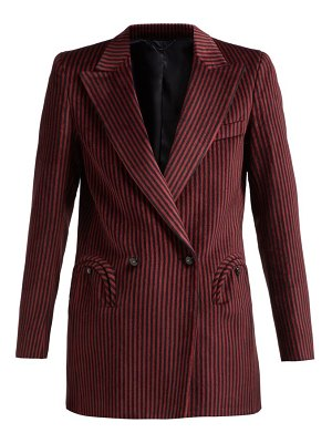 BLAZÉ MILANO cool feeling double breasted striped velvet blazer