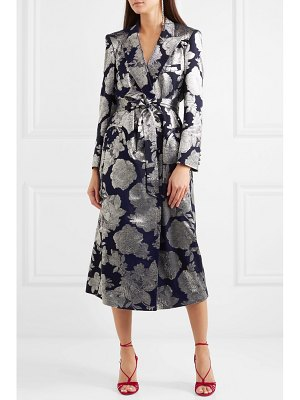 BLAZÉ MILANO double-breasted silk-blend jacquard midi dress