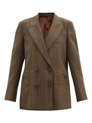 BLAZÉ MILANO drum beat checked wool-twill suit jacket
