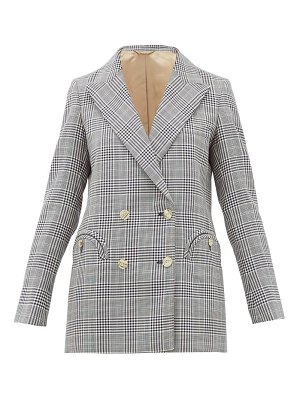 BLAZÉ MILANO everyday double-breasted checked wool blazer