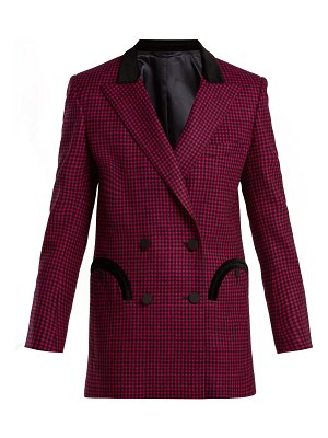 BLAZÉ MILANO Fair & Square gingham double-breasted wool blazer