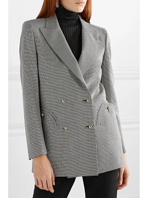 BLAZÉ MILANO kentra everyday double-breasted houndstooth wool blazer
