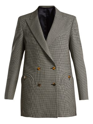 BLAZÉ MILANO Kentra houndstooth double-breasted wool jacket