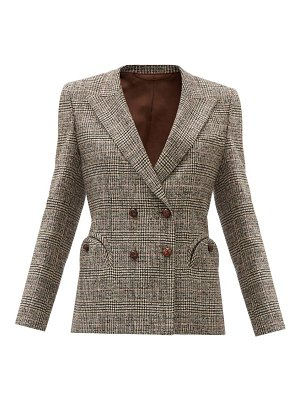 BLAZÉ MILANO longwood charmer wool-blend double-breasted jacket