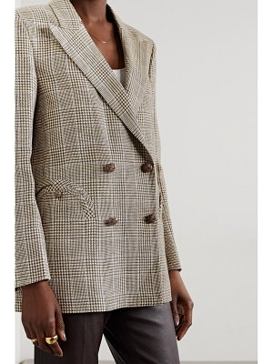 BLAZÉ MILANO merit everynight prince of wales checked linen and wool-blend blazer