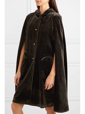 BLAZÉ MILANO metallic striped velvet cape