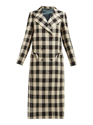 BLAZÉ MILANO pequod double breasted check linen coat