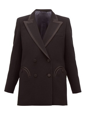 BLAZÉ MILANO resolute double-breasted wool-crepe blazer