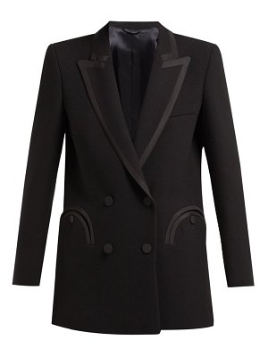 BLAZÉ MILANO resolute double breasted wool crepe blazer