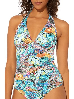 Bleu By Rod Beattie let loose halter tankini top