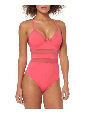 Bleu By Rod Beattie mesh inset one-piece swimsuit