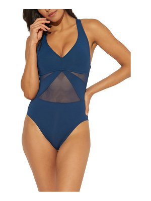 Bleu By Rod Beattie mio mesh inset one-piece swimsuit