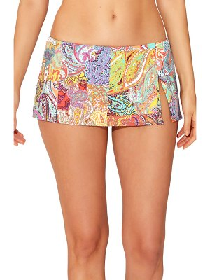 Bleu By Rod Beattie skirted hipster bikini bottoms