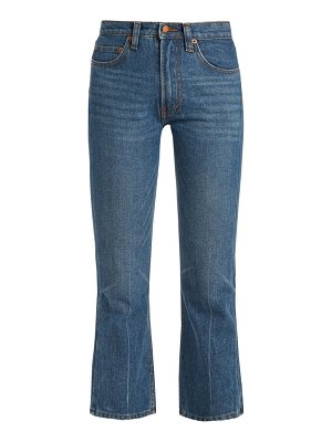 BLISS AND MISCHIEF cowboy-fit bootcut cropped jeans
