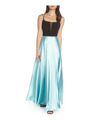 Blondie Nites satin skirt gown