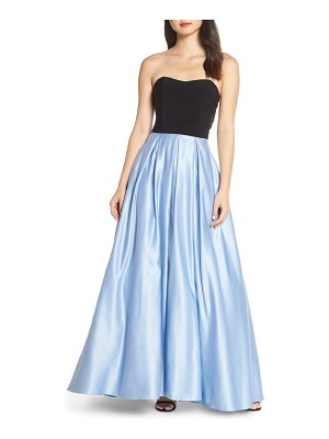 Blondie Nites strapless satin skirt evening dress