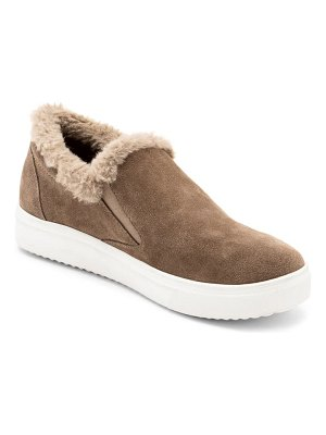 Blondo gia faux fur trim waterproof slip-on sneaker