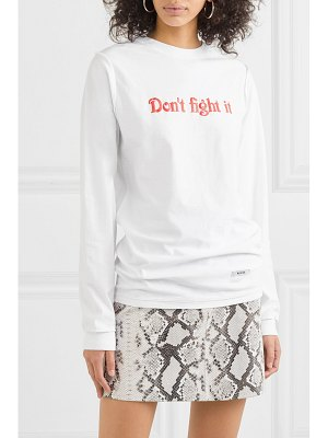 BLOUSE don't fight it printed cotton-jersey top