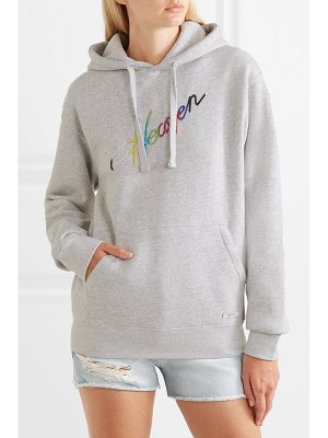 BLOUSE heaven embroidered cotton-jersey hoodie