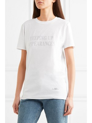 BLOUSE keeping up appearances printed cotton-jersey t-shirt