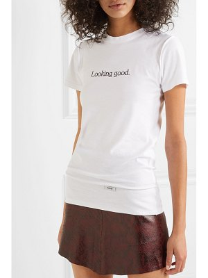 BLOUSE looking good printed cotton-jersey t-shirt