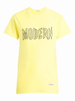 BLOUSE Modern-print cotton-jersey T-shirt