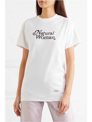 BLOUSE natural woman printed cotton-jersey t-shirt