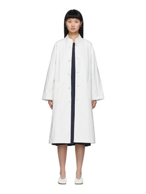 Blue Blue Japan white quilted coat