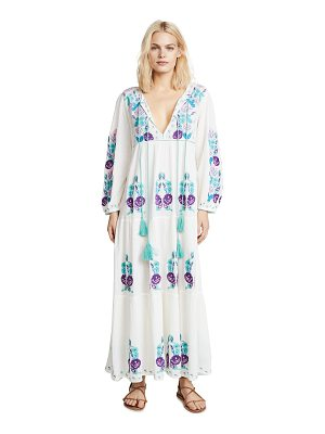 BLUE BOHEME natural lara embroidered dress
