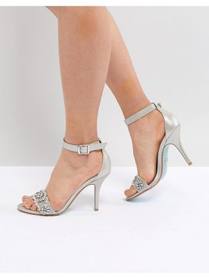 Blue By Betsey Johnson blue by betsy johnson silver embellished heeled wedding sandals