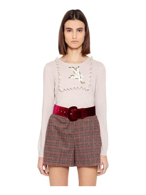 BLUGIRL Embroidered wool blend sweater