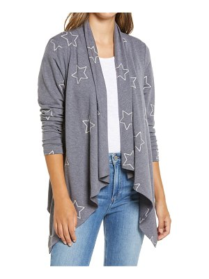 Bobeau amie french terry waterfall cardigan