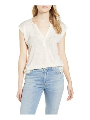 Bobeau pleat back slub t-shirt