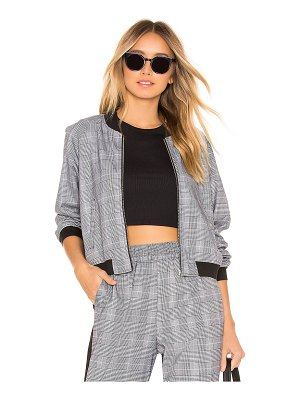 bobi BLACK Menswear Plaid Bomber