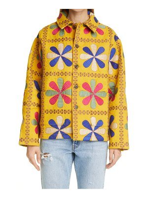 Bode bengali tableau quilted workwear jacket