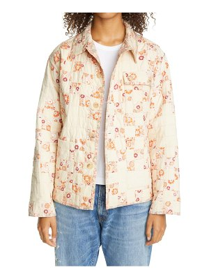Bode one of a kind reworked quilt feedsack jacket