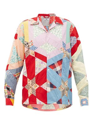 Bode havana patchwork cotton shirt