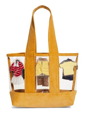 Bode one of a kind clear corduroy tote