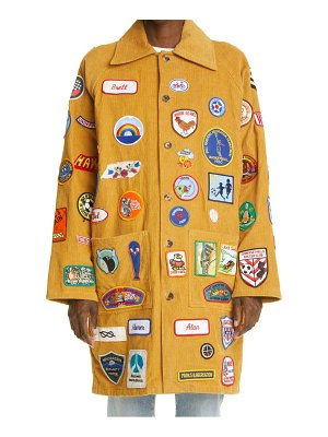 Bode one of a kind multi patch corduroy coat