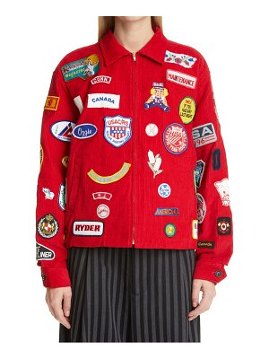 Bode one of a kind multi patch corduroy jacket