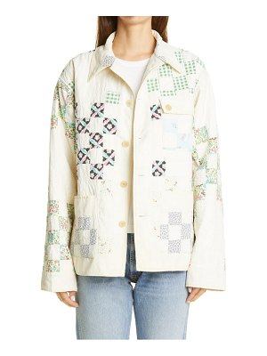 Bode one of a kind reworked feedsack quilt workwear jacket