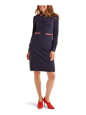 BODEN amber button front long sleeve ponte dress