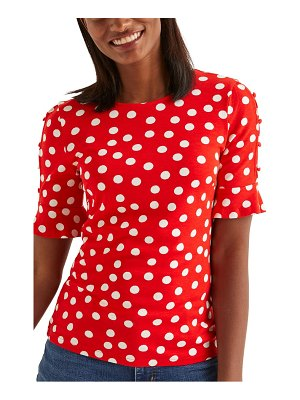 BODEN bella polka dot ponte top